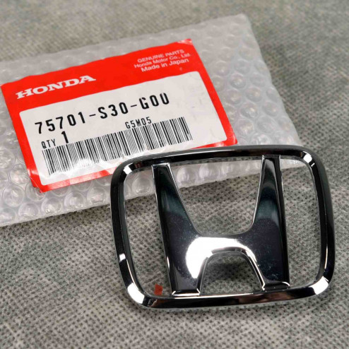"75701-S30-G00, 75701S30G00 OEM srebrny emblemat ""H"" Honda Prelude 5gen 97-01"