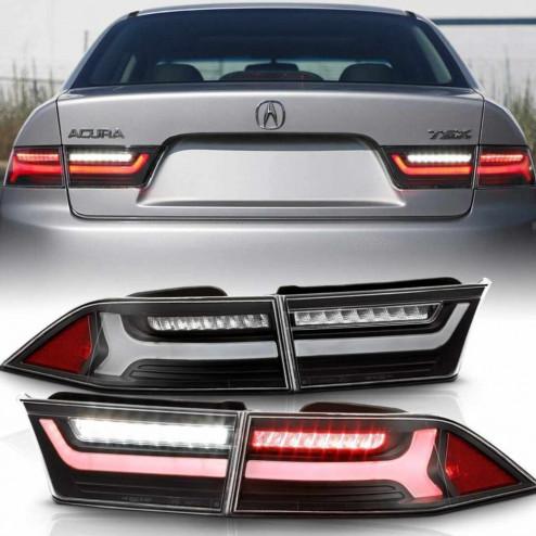 ALT-JH-ATSX06-LBLED-BK, ALTJHATSX06LBLEDBK Lampy tylne Honda Accord 7gen 03-08 Sedan LED Clear Black
