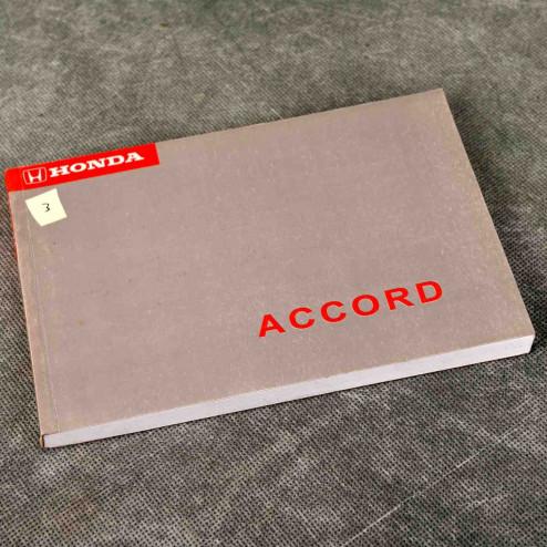 OEM instrukcja obsługi Accord 5gen