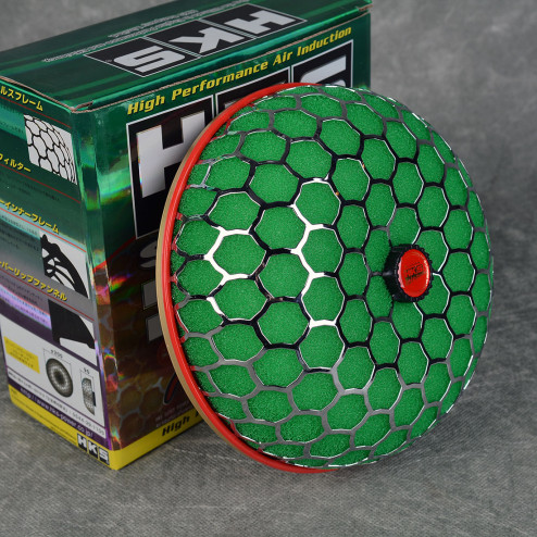 Filtr powietrza HKS style 'grzybek' zielony 101mm