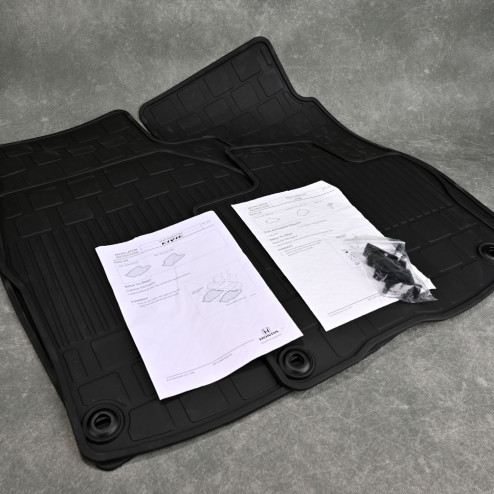 OEM dywaniki gumowe Honda Civic 8gen TypeR FN2 06-11 8P19-SMR-601, 08P18-SMG-613
