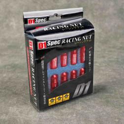 Nakrętki D1 Spec Style EW 20szt. 12x1.5 czerwone