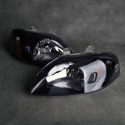 Lampy przednie Civic 6gen 99-00 clear black amber