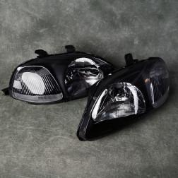 Lampy przednie Civic 6gen 96-98 Black Clear