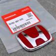 "OEM czerwony emblemat ""H"" 65x52mm Civic 7gen 01-05 TypeR EP3"