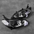 Lampy przednie Civic 7gen 04-05 EM2 Black Clear