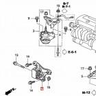 50840-S6M-J00, 50840S6MJ00 OEM przednia poduszka silnika Honda Civic 7gen 01-05 TypeR EP3