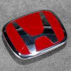 "75700-S1A-E11ZB, 75700S1AE11ZB OEM czerwony emblemat ""H"" przód Honda Accord TypeR 98-02 98x80 mm"