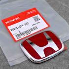 "75701-S5T-E01, 75701S5TE01 OEM czerwony emblemat ""H"" 65x52mm Honda Civic 7gen 01-05 TypeR EP3"