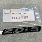 75731-SN7-G00, 75731SN7G00 OEM czarny emblemat 2.0is na tylną klapę Honda Accord 5gen 93-97