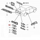 75733-S1A-E10, 75733S1AE10 OEM emblemat LS na tylną klapę Honda Accord 6gen 98-02