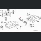 75765-SR2-G02ZF, 75765SR2G02ZF OEM emblemat naklejka 'Civic CRX' Honda CRX Del Sol 93-97