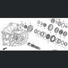 91004-PPP-014, 91004PPP014 OEM łożysko skrzyni biegów EP3, Honda Accord, Honda Civic
