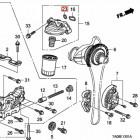 91326-PL5-003, 91326PL5003 OEM oring podstawy filtra oleju K24Z3 Honda Accord 8gen 08-15