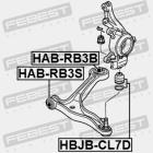 Febest HAB-RB3S tuleja wahacza przedniego Odyssey 3gen 05-10