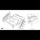 Uszczelka szyby bocznej tylnej Honda Civic 5gen 92-95 73810-SR3-003  73860-SR3-003