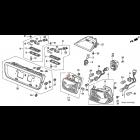 34158-S02-A01, 34158S02A01 OEM uszczelka lampy tylnej lewej wewnętrznej Honda Civic 6gen 96-00 Coupe Sedan