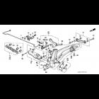 OEM tuleja wahacza tylnego poprzecznego Honda Civic 5gen CRX Del Sol, 52365-SR3-004, 52365SR3004