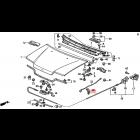 90671-SH3-003, 90671SH3003 OEM klips patyka maski Honda Civic 4gen, CRX 2gen 88-91