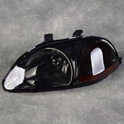 Lampy przednie Civic 6gen 96-98 black smoke amber