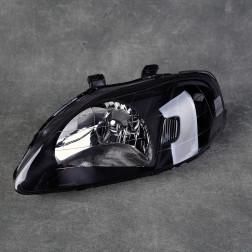 Lampy przednie Civic 6gen 99-00 black clear