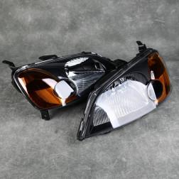 Lampy przednie Civic 7gen 01-03 EM2 Black Clear Amber